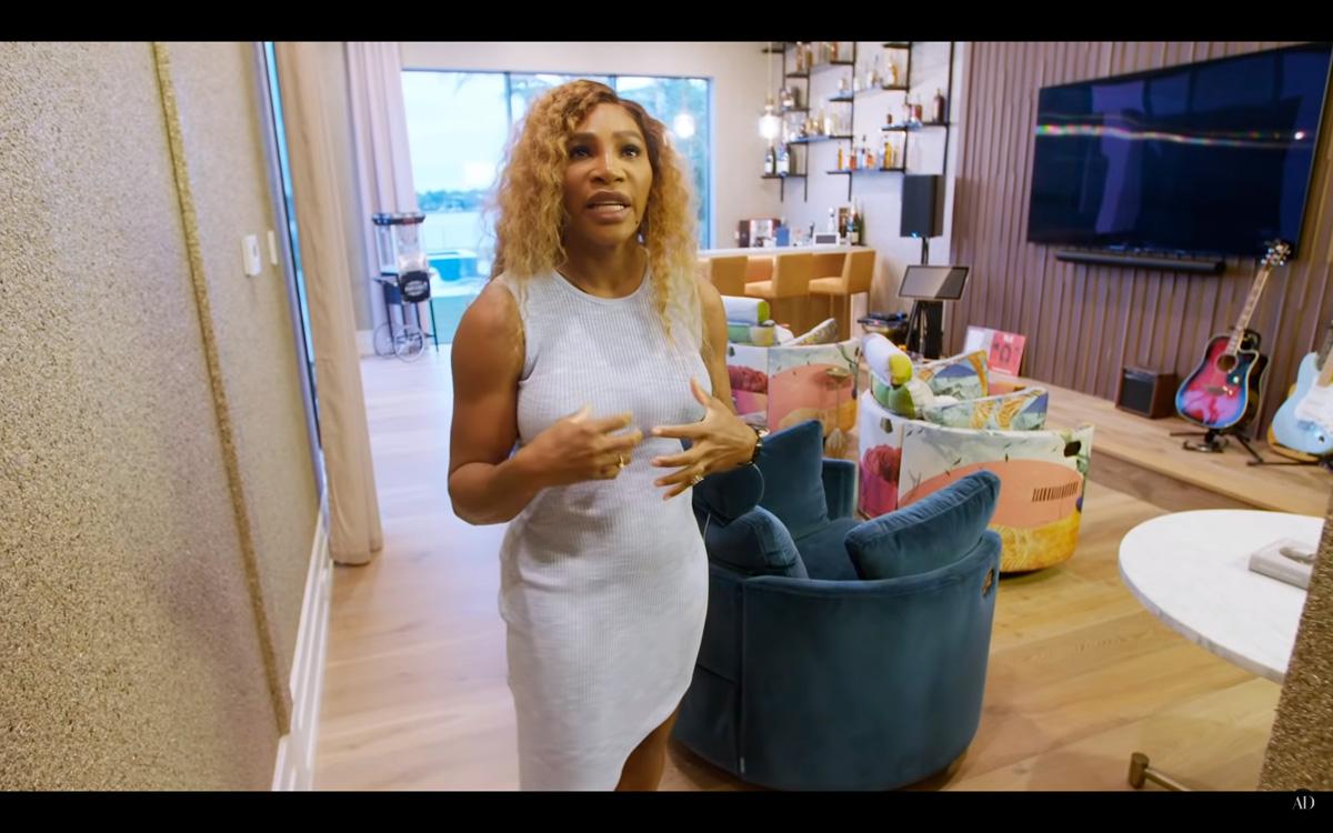 Sillones Famaliving en la casa de Serena Williams en Miami.