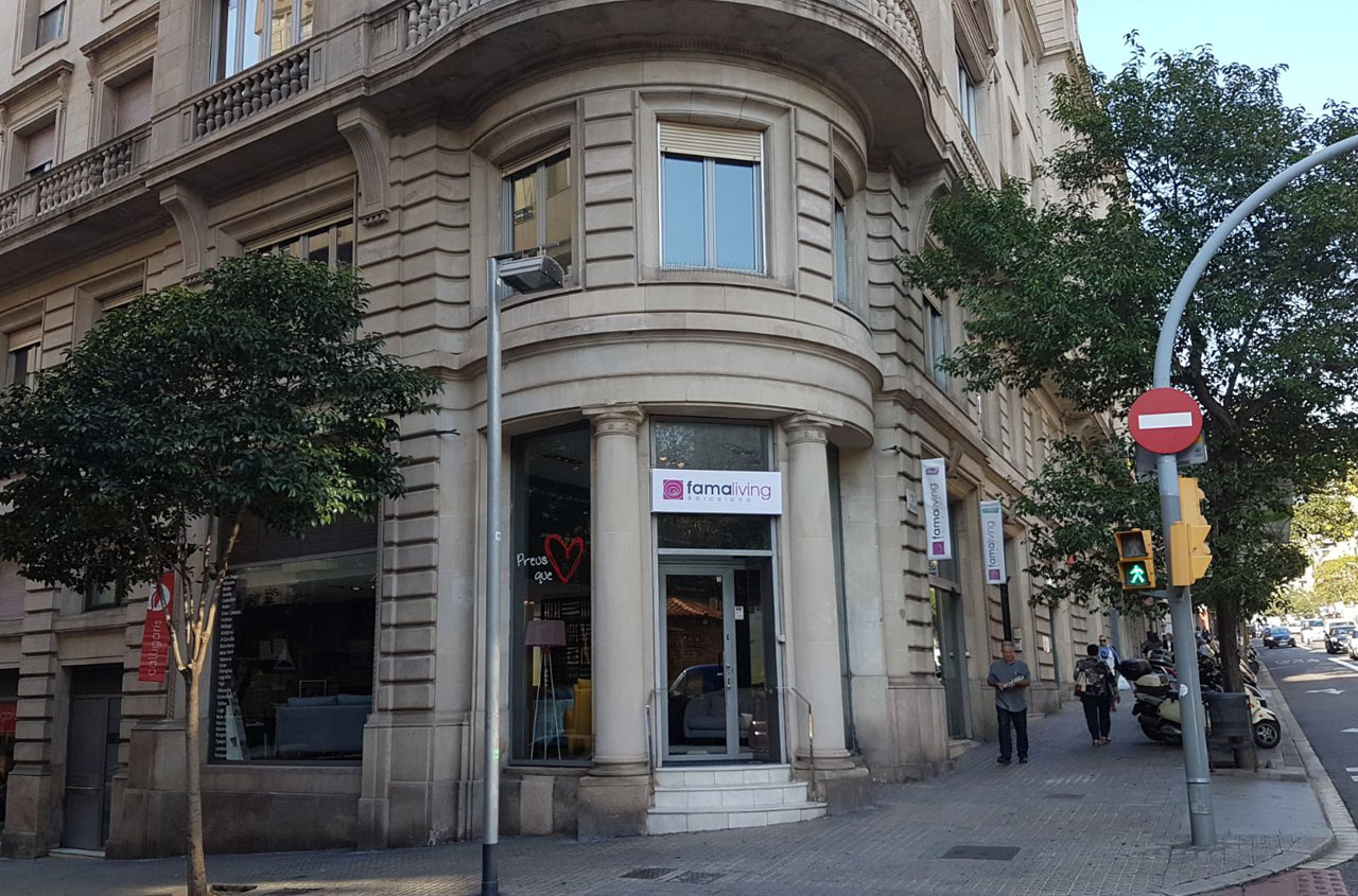 Imagenes tienda Famaliving Barcelona Muntaner