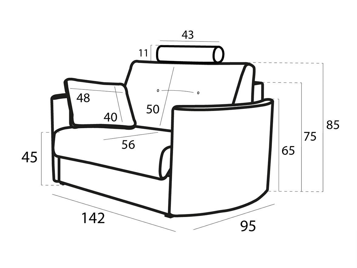 Bolero sillón 3D croquis