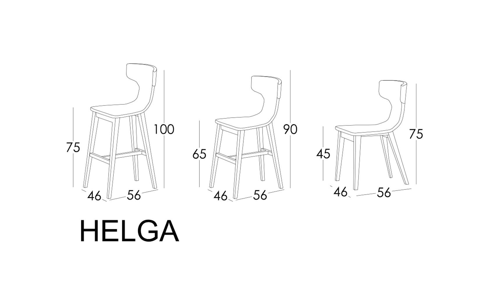 Helga taburete Fama 2020 - Medidas