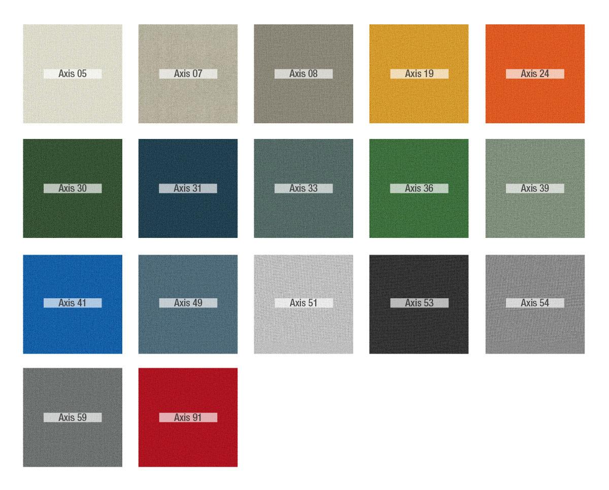 Colores Axis tela Fama 2020