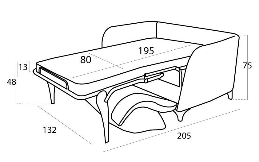 Gala sillón 3D abierto