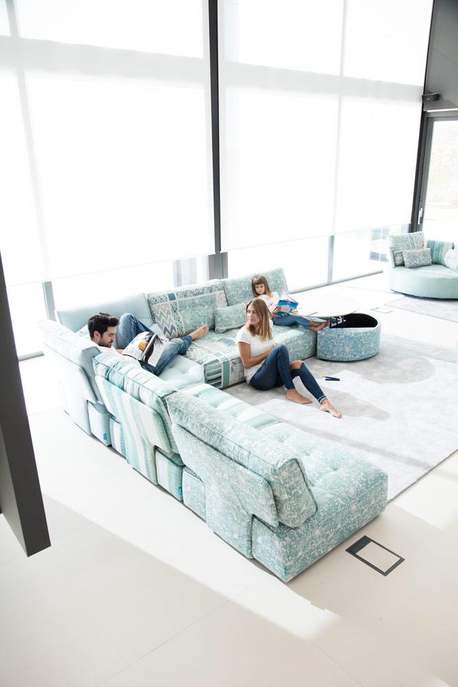 Tonalidades aguamarina sofas y sillones Fama 18