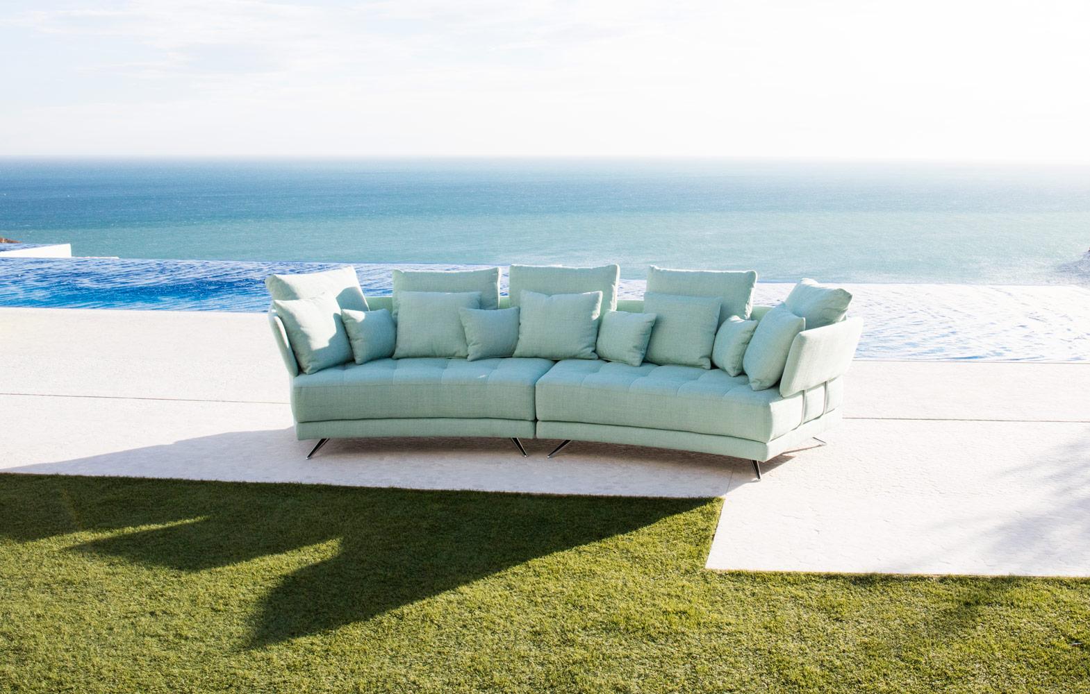 Tonalidades aguamarina sofas y sillones Fama 08