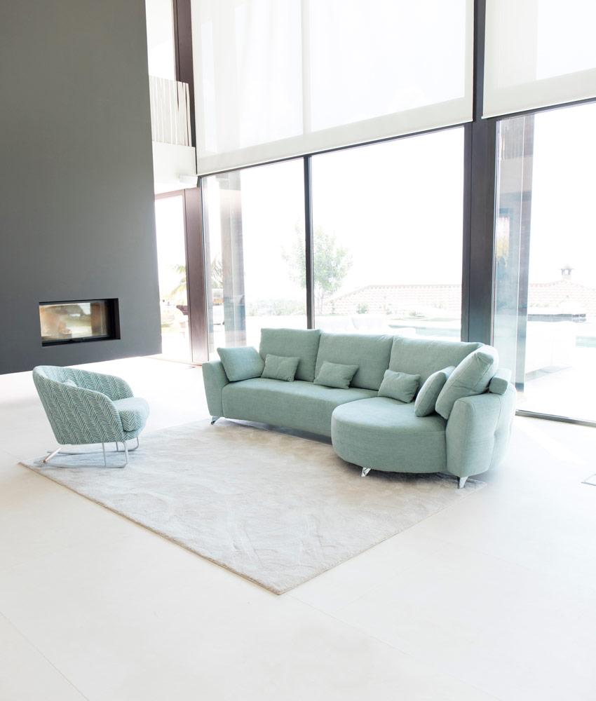 Tonalidades aguamarina sofas y sillones Fama 17