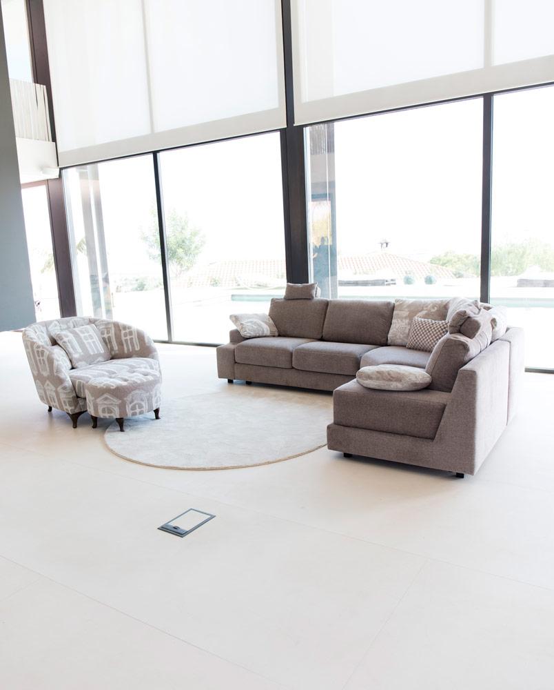 Tonalidades marron y beige sofas y sillones Fama 13