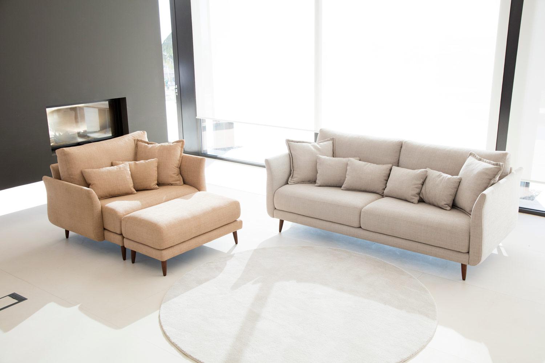 Tonalidades marron y beige sofas y sillones Fama 14