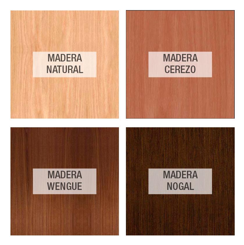 Colores tapa madera
